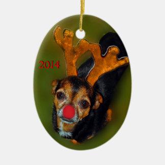 Chihuahua Reindeer Ornament