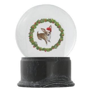 Chihuahua Santa Snow Globe