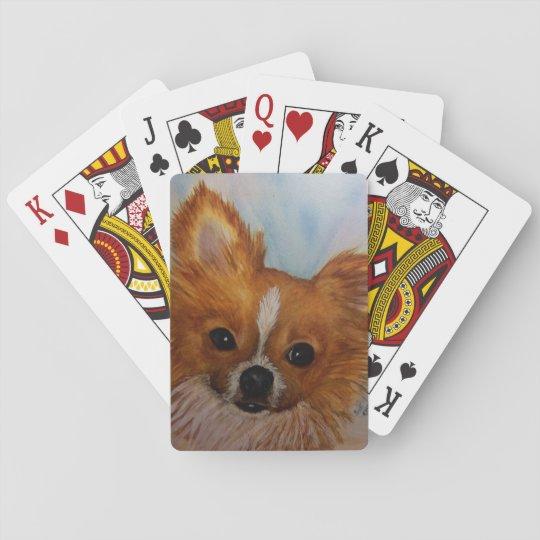 CHIHUAHUA SHIH TZU MIX PLAYING CARDS