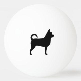 Chihuahua Silhouette Ping Pong Ball