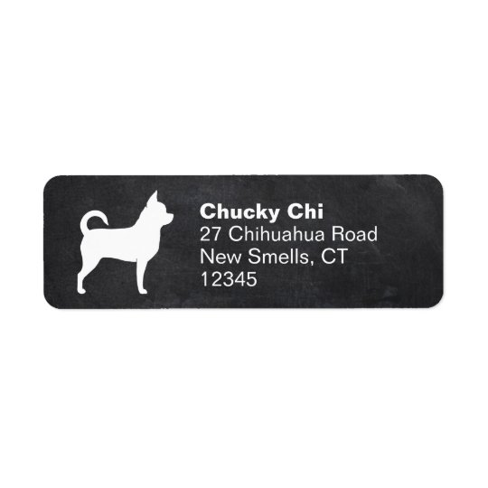 Chihuahua Silhouette Return Address Label