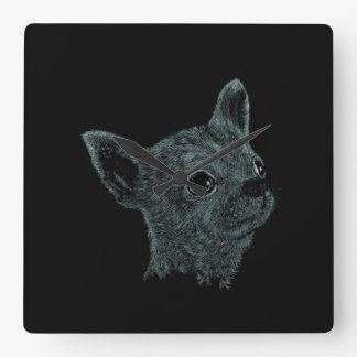 Chihuahua Smooth Haired Square Wall Clock