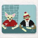Chihuahua & Sock Monkey Mousepad