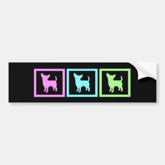 Chihuahua Squares Bumper Sticker