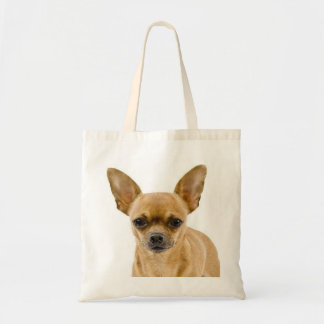 Chihuahua Tan And White Puppy Dog Tote Bag