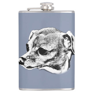 """""""Chihuahua"""" Vinyl Wrapped Flask"""