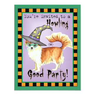 Chihuahua Witch 11 Cm X 14 Cm Invitation Card