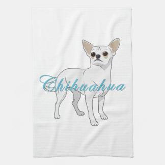 Chihuahuas: Little White Chihuahua Tea Towel
