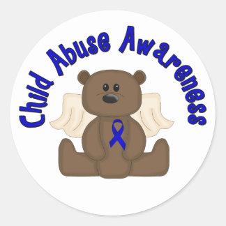 Child Abuse Awareness Classic Round Sticker