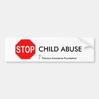 CHILD ABUSE... BUMPER STICKER