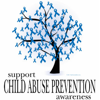 Child Abuse Prevention Tree Standing Photo Sculpture