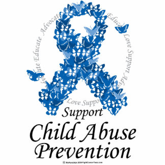 Child Abuse Ribbon of Butterflies Photo Sculptures
