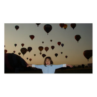child and hot air balloons pack of standard business cards