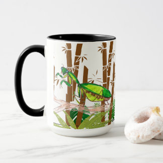 Child Art Praying Mantis Animal Green Print Cute Mug