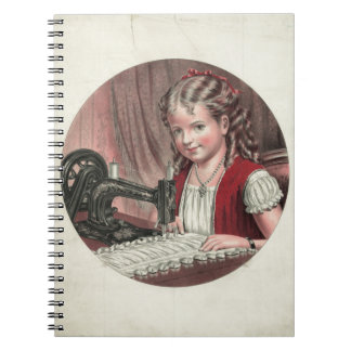Child at Sewing Machine Notebook