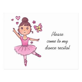 Child Ballet Dancer Recital Postcard