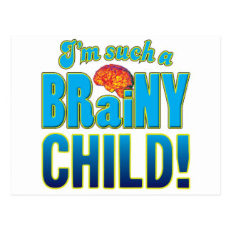 Child Brainy Brain Postcard