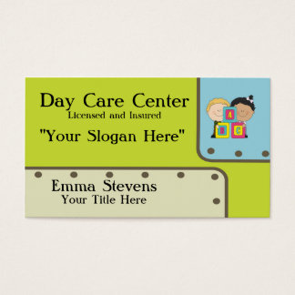 Child Care ABC Kids Business Card Template