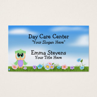 Child Care Baby Owl Business Card Template