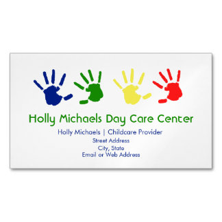 Child Care / Babysitter Magnetic Business Cards