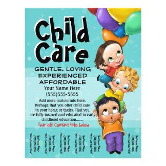 Child Care. Babysitting. Day Care. Tear sheet 21.5 Cm X 28 Cm Flyer