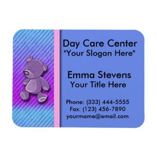 Child Care Purple Teddy Bear Magnets