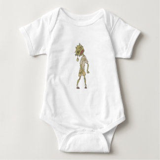 Child Creepy Zombie With Rotting Flesh Outlined Baby Bodysuit