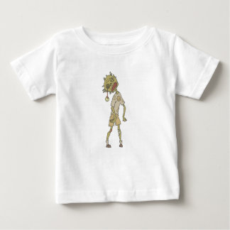 Child Creepy Zombie With Rotting Flesh Outlined Baby T-Shirt
