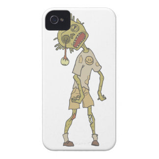 Child Creepy Zombie With Rotting Flesh Outlined iPhone 4 Case-Mate Case