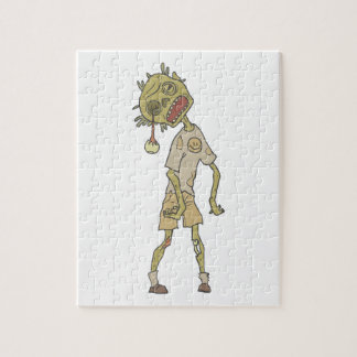 Child Creepy Zombie With Rotting Flesh Outlined Jigsaw Puzzle