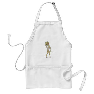 Child Creepy Zombie With Rotting Flesh Outlined Standard Apron