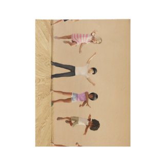 Child Development with Children Learning Wood Poster