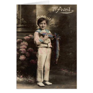 Child Fish Poisson d'avril April Fool's Day Greeting Card