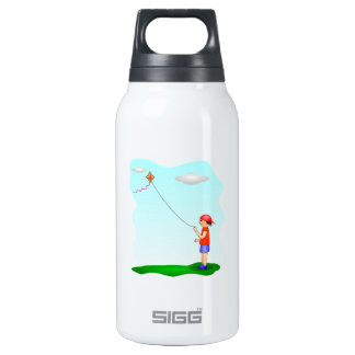 Child Flying a Kite Insulated Water Bottle