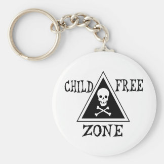 Child-Free Zone Basic Round Button Key Ring