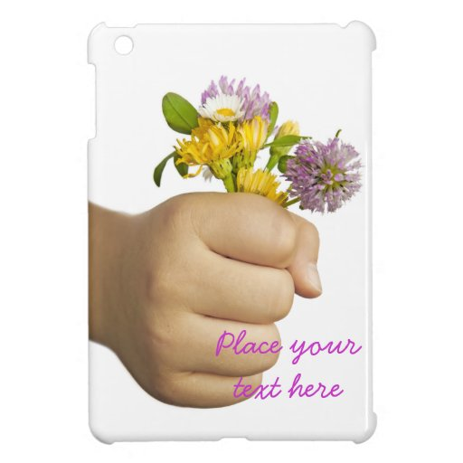 Child Hand Holding Flowers Cases For iPad Mini