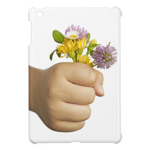 Child Hand Holding Flowers iPad Mini Cases