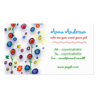 child handmade painting business card