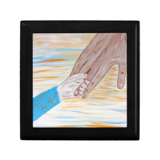 Child holding Father's hand Gift Box