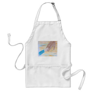 Child holding Father's hand Standard Apron