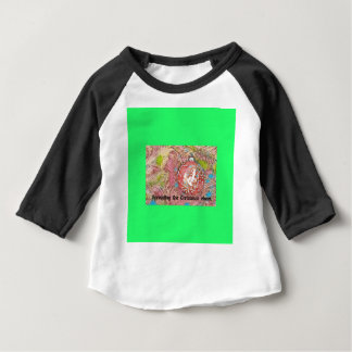 Child In Christmas Ornament Painting Baby T-Shirt