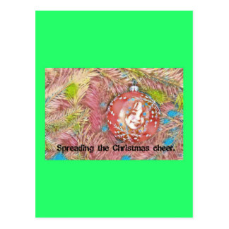 Child In Christmas Ornament Painting Postcard