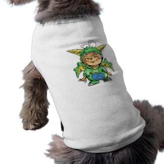 Child in Cute Dragon Costume Sleeveless Dog Shirt