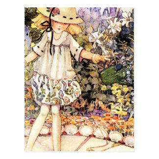 Child in Garden Postcard