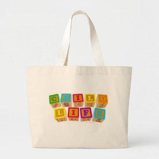 Child Life Blocks totebag Jumbo Tote Bag