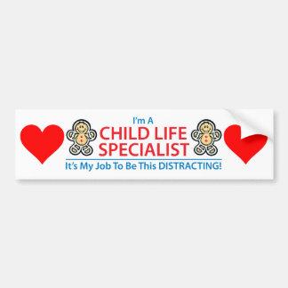 Child Life Specialist Distracting Bumper Sticker