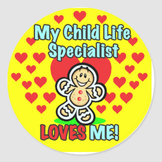 Child Life Specialist Gingerbread Stickers