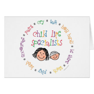 Child Life Specialists Notecard