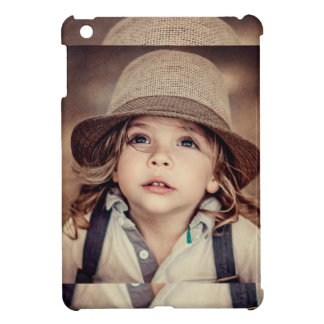 Child Looking up Girl Hat Vintage Portrait iPad Mini Cover