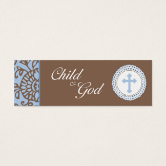 Child of God - Blue Favor Tag Mini Business Card